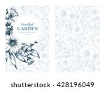 vector greeting card  posters ... | Shutterstock .eps vector #428196049