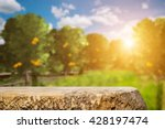 space of old wood table over... | Shutterstock . vector #428197474