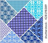 patchwork decorative vector... | Shutterstock .eps vector #428198389