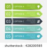 modern infographic lines set.... | Shutterstock .eps vector #428200585