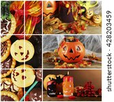 collage of different photos for ... | Shutterstock . vector #428203459