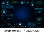 hud interface ui design... | Shutterstock .eps vector #428207221