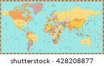 high detail old world map.all... | Shutterstock .eps vector #428208877