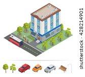 isometric hotel building....   Shutterstock .eps vector #428214901