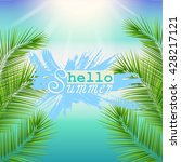 hello summer background.... | Shutterstock .eps vector #428217121