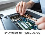 computer literacy repair men... | Shutterstock . vector #428220709