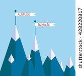 altitude sickness mountains... | Shutterstock .eps vector #428220817