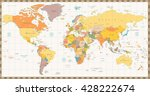 old retro color political world ... | Shutterstock .eps vector #428222674