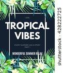 bright hawaiian design with... | Shutterstock .eps vector #428222725
