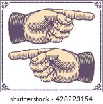 vintage hands with pointing... | Shutterstock .eps vector #428223154