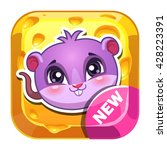 funny vector app icon with cute ...