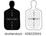 target shoot vector | Shutterstock .eps vector #428225041