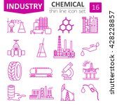 chemical industry icon set.... | Shutterstock .eps vector #428228857