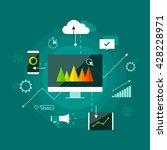 digital marketing presentation... | Shutterstock .eps vector #428228971