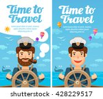 travel to world. cruise ... | Shutterstock .eps vector #428229517