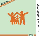 happy family icon in simple... | Shutterstock .eps vector #428230735