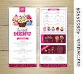 vintage dessert menu design.... | Shutterstock .eps vector #428239909