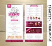 vintage dessert menu design.... | Shutterstock .eps vector #428239981