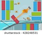birds eye view of shipping... | Shutterstock .eps vector #428248531