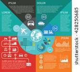 transportation infographics...   Shutterstock .eps vector #428250685
