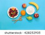 greek yogurt around orange ... | Shutterstock . vector #428252935