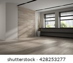 interior of empty room 3d... | Shutterstock . vector #428253277