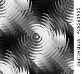 seamless abstract monochrome... | Shutterstock . vector #428261935