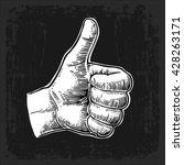 hand showing symbol like.... | Shutterstock .eps vector #428263171
