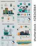 set of the infographic template.... | Shutterstock .eps vector #428263864