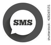 sms speech bubble icon....