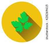 parsley icon. flat design....
