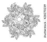 luxury flowers bouquet in shape ... | Shutterstock .eps vector #428270239