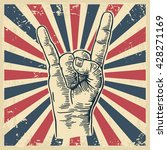 rock and roll hand sign.... | Shutterstock .eps vector #428271169