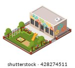 vector isometric kindergarten....