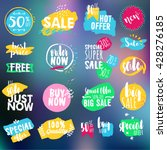 set of labels and badges for... | Shutterstock .eps vector #428276185