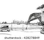 australia. city sydney. hand... | Shutterstock .eps vector #428278849