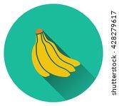 banana icon. flat design....