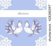 wedding invitation. holiday... | Shutterstock .eps vector #428280397