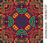 festive colorful tribal ethnic... | Shutterstock .eps vector #428282737