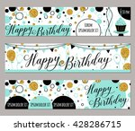 happy birthday felicitation... | Shutterstock .eps vector #428286715
