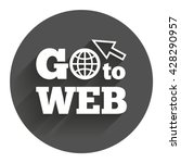 go to web icon. globe with...