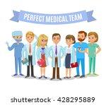medical team. set of hospital... | Shutterstock .eps vector #428295889