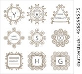 calligraphic monogram emblem... | Shutterstock . vector #428299375