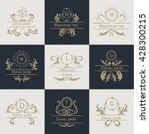 design cards ornamental ... | Shutterstock . vector #428300215