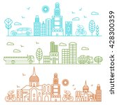city illustration birds