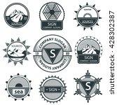 set emblems mountain  labels... | Shutterstock . vector #428302387