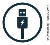 usb charging icon in circle on... | Shutterstock .eps vector #428306944