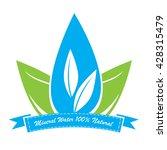 mineral water logo  vector... | Shutterstock .eps vector #428315479