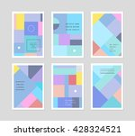 set of creative universal cards.... | Shutterstock .eps vector #428324521