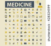 medicine icons  | Shutterstock .eps vector #428324599